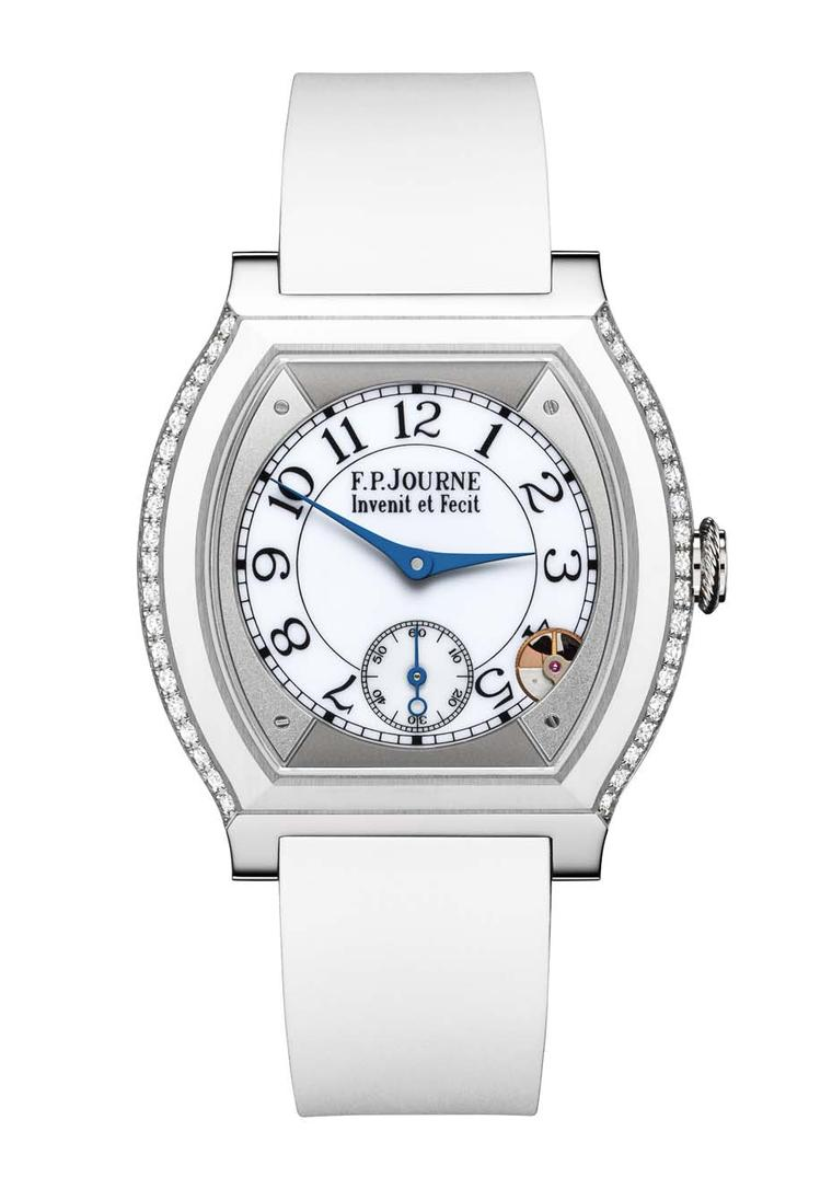 F.P. Journe Élégante watch in titanium and white rubber