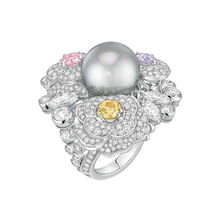 Chanel Printemps de Camélia ring, from the new Les Perles de Chanel collection