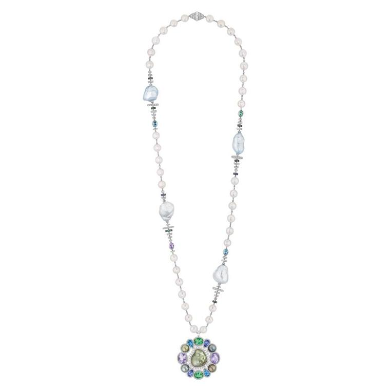 Chanel Perles Baroque necklace in white gold, from the new Les Perles de Chanel collection