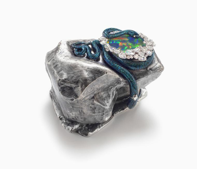 Victoire de Castellane Lunae Lumen Holly Colorum, 2013, in yellow gold, diamonds,? multi-coloured sapphires and rubies