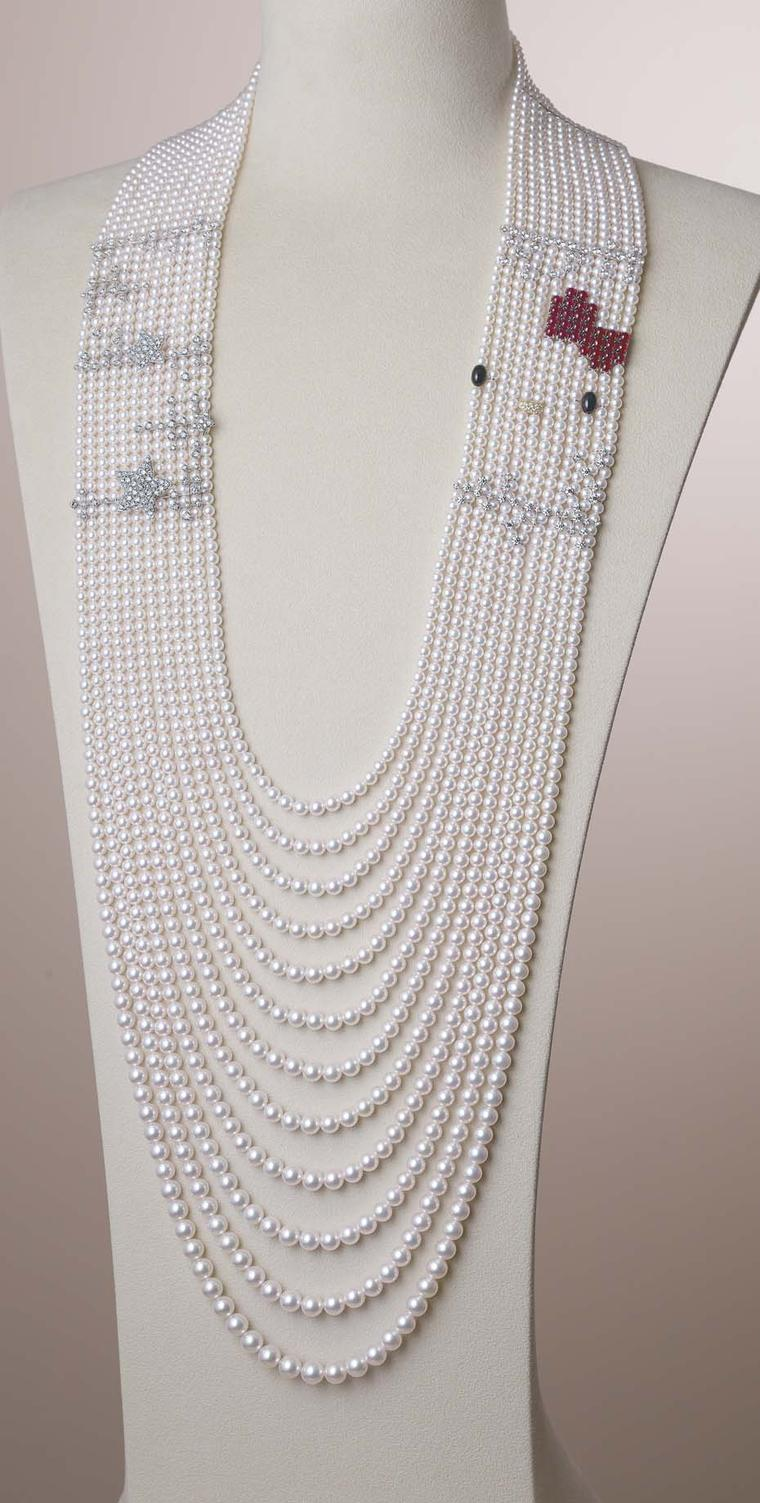Mikimoto x Hello Kitty pearl necklace