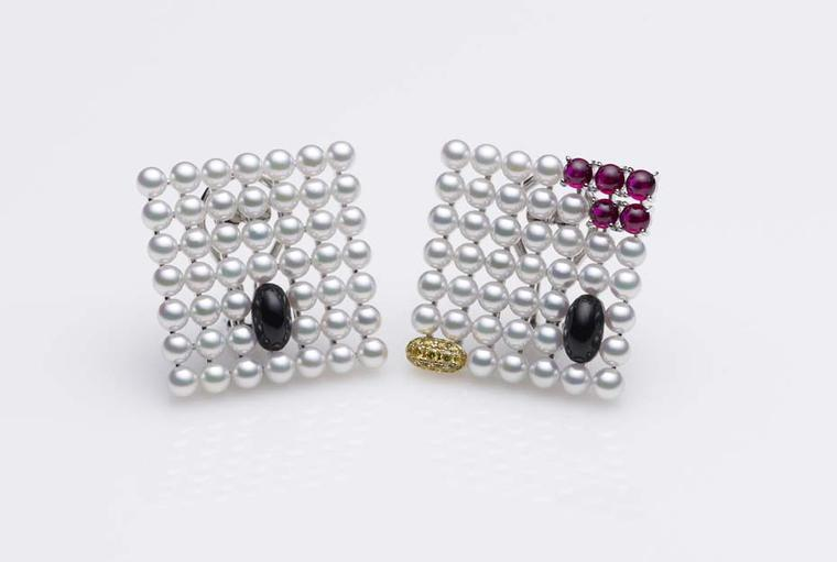 Mikimoto x Hello Kitty pearl earrings