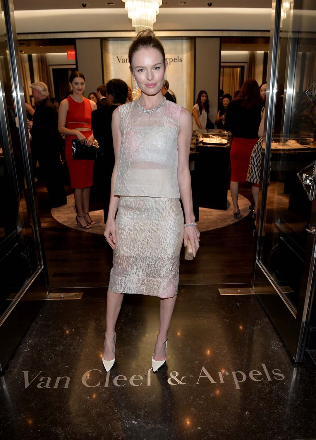 A host of VIP guests, including actress Kate Bosworth, attended the reopening of Van Cleef & Arpels' South Coast Plaza boutique in Orange County
