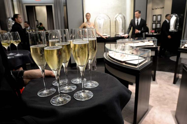 Guests arrived at the newly expanded and redesigned Van Cleef & Arpels boutique to a cocktail reception followed by a private dinner