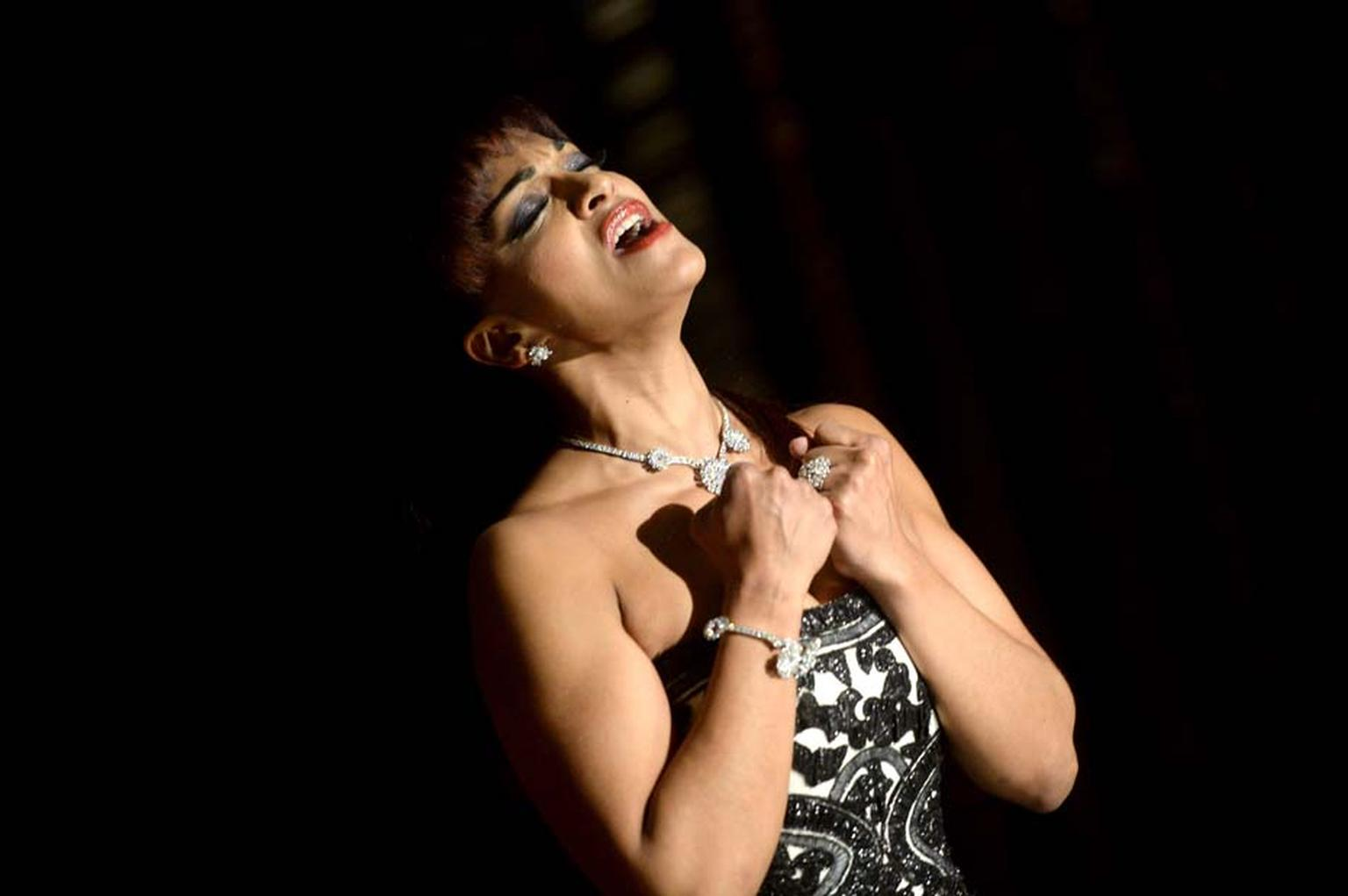 Renowned opera singer Danielle de Niese, wife of Glyndebourne owner Gus Christie, treated invitees to a special performance