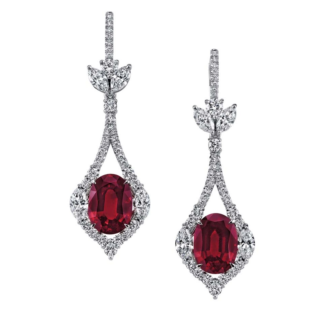 Omi Privé ruby and diamond earrings