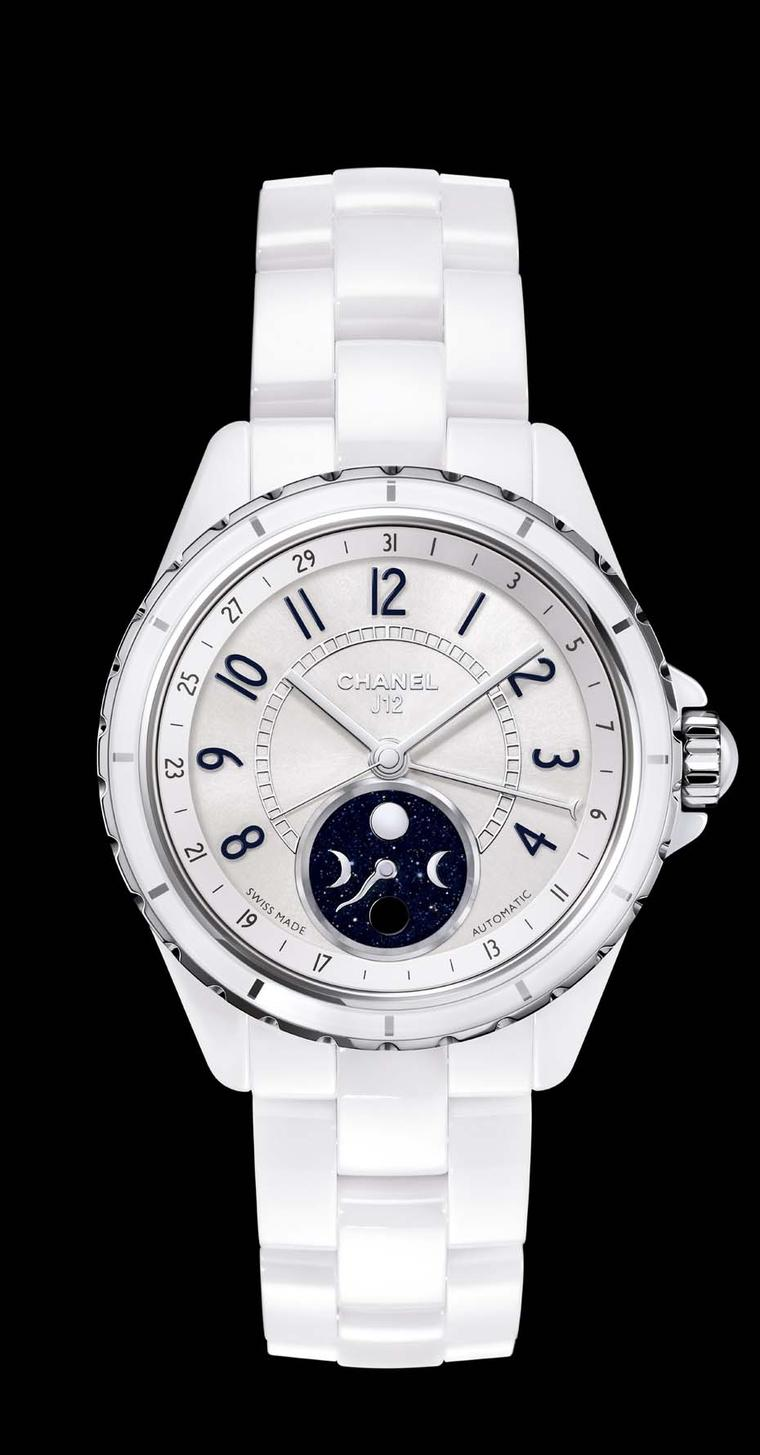 Chanel's iconic J12 ceramic watch in white ceramic