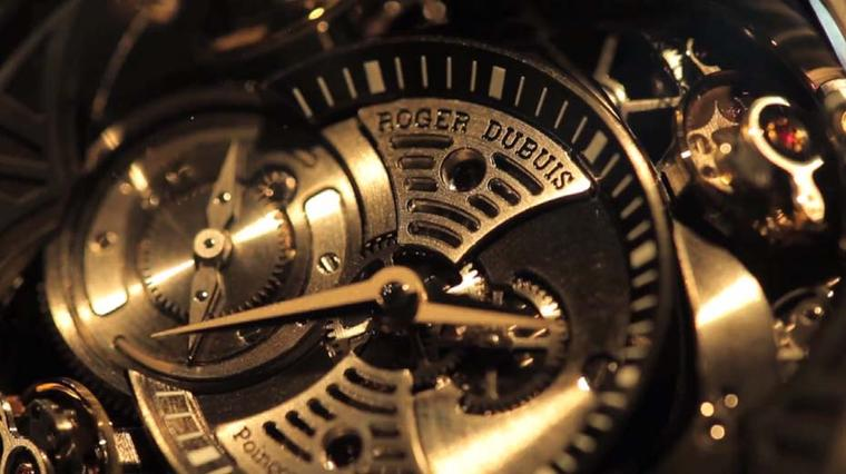 The Roger Dubuis Excalibur Quatuor uses four sprung balances to compensate the effects of gravity