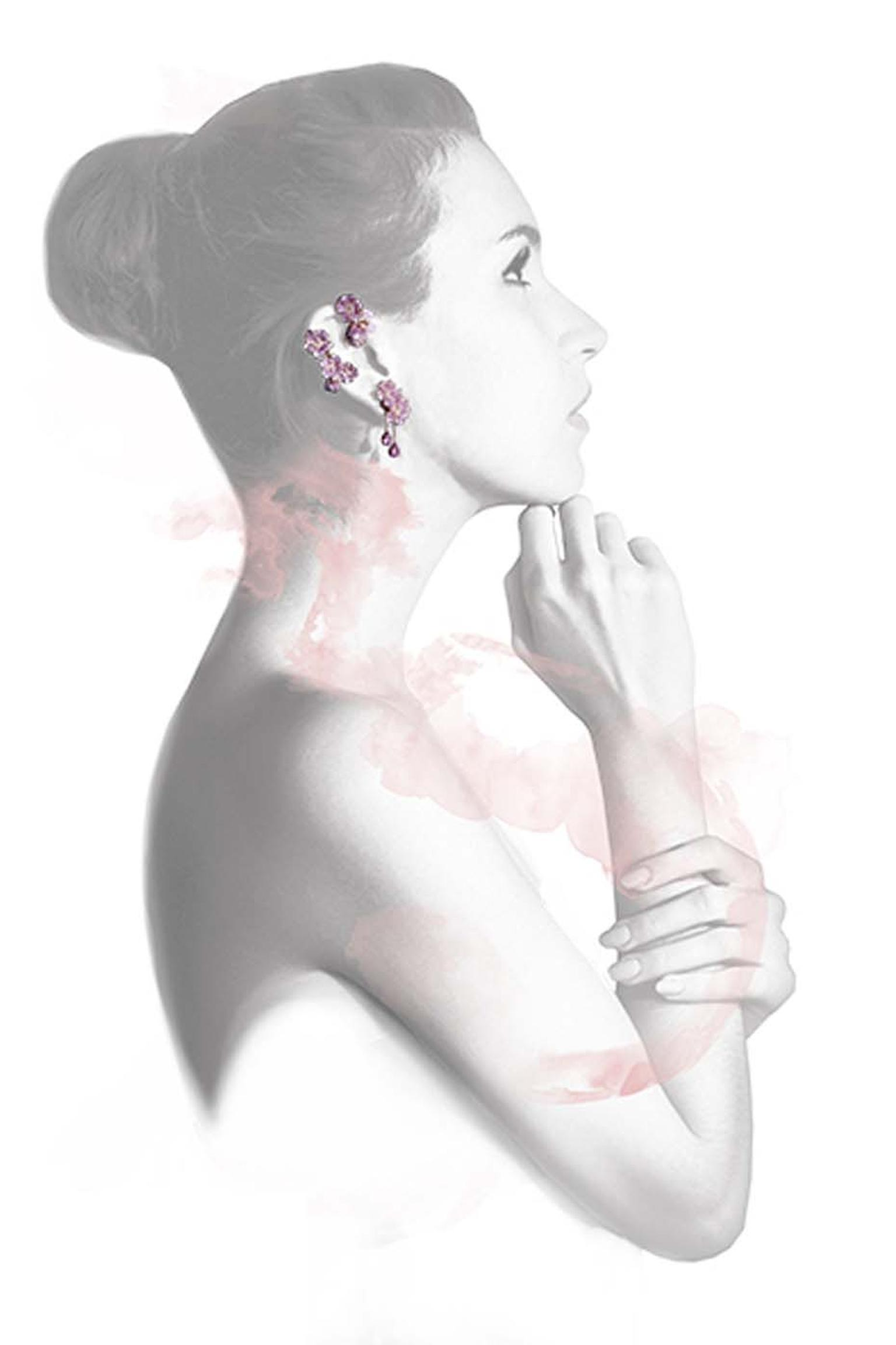 Morphée Cherry Tree Blossom earrings in a limited edition of seven