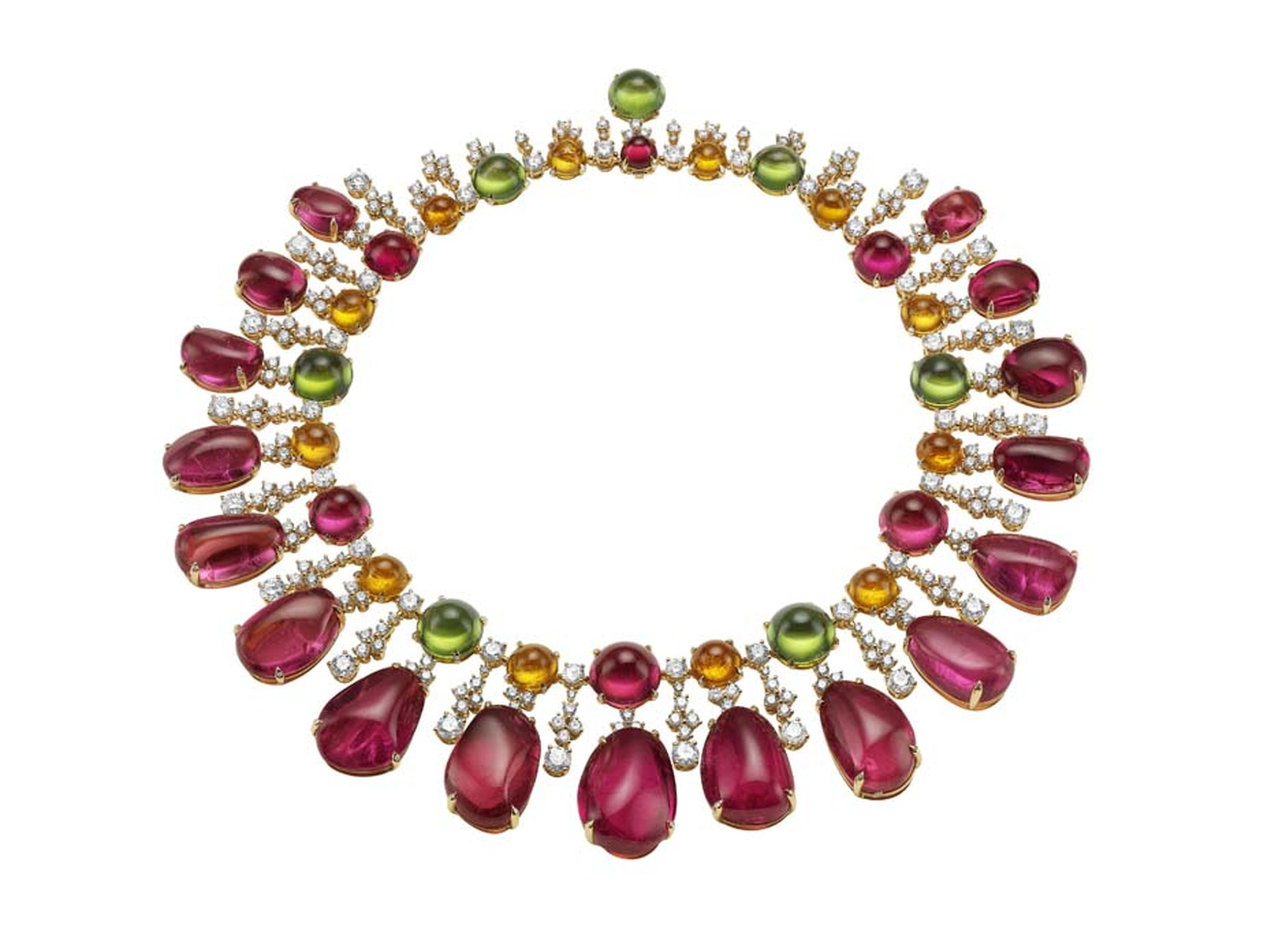 Bulgari Diva Gala in Costa Smeralda necklace set with 18 rubellites totalling more than 420ct