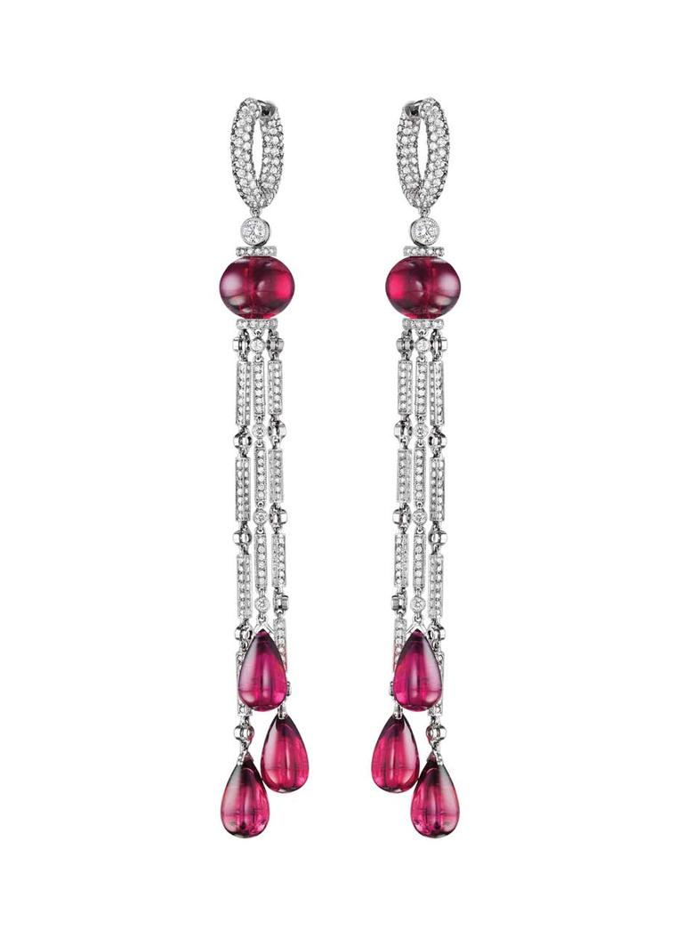 Jacob & Co. Harlequin rubellite drop earrings