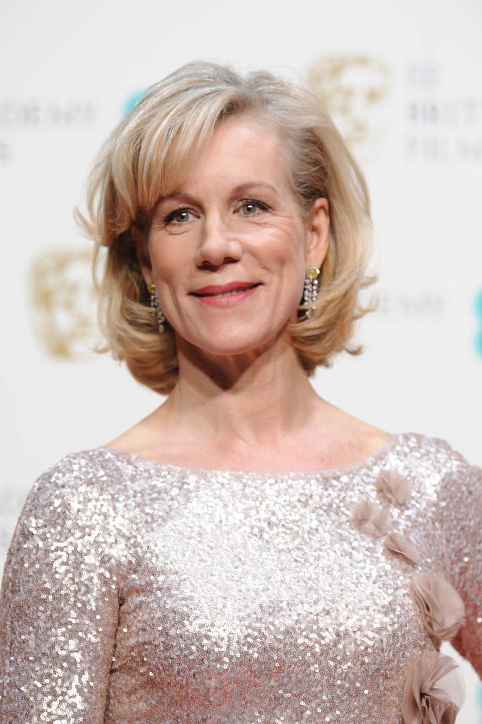 Award presenter Juliet Stevenson also wore Asprey jewels, including a pair of yellow diamond earrings