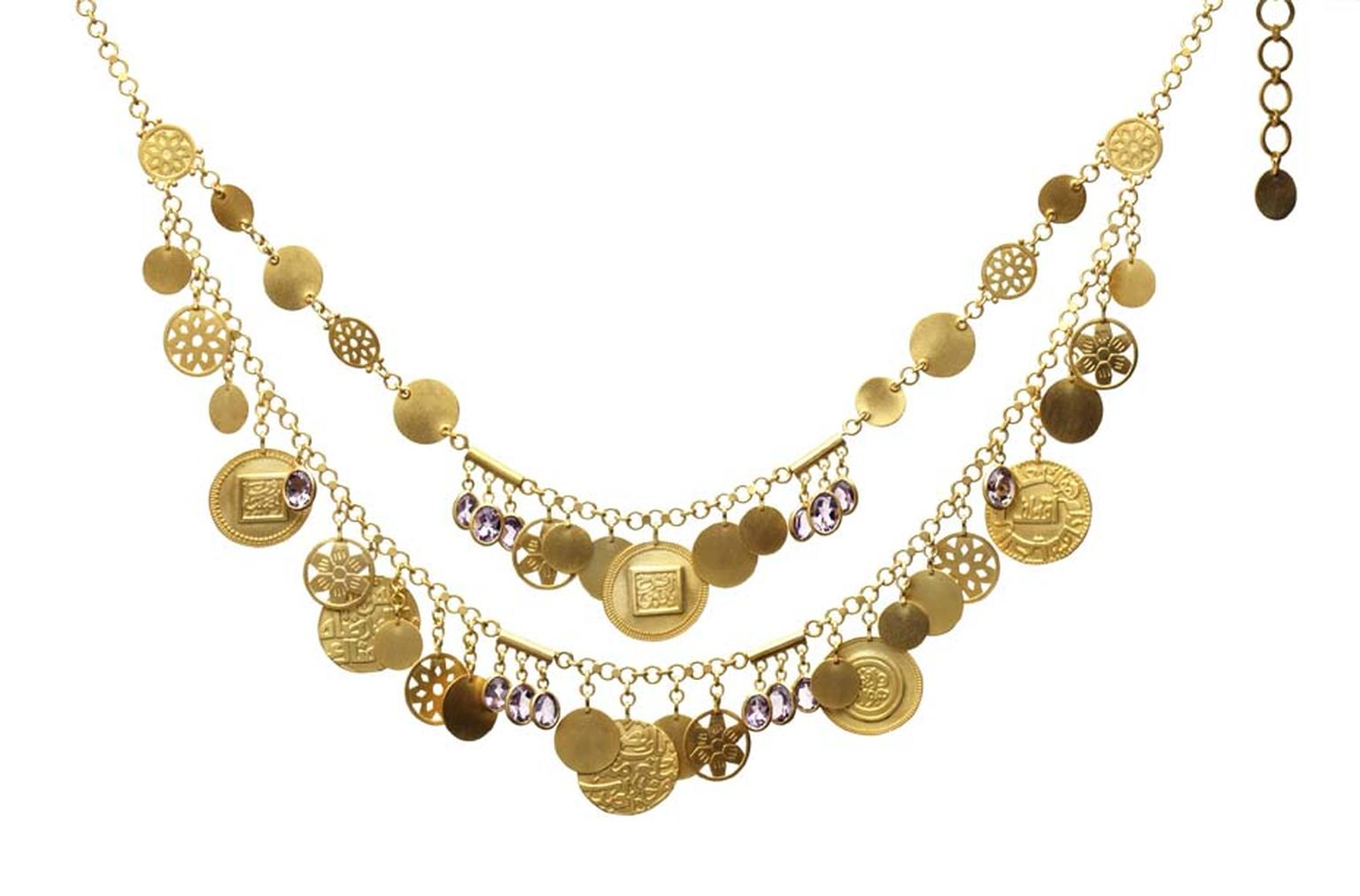 Azza Fahmy for Matthew Williamson Layered Coins necklace from the Spring/Summer 2014 collection