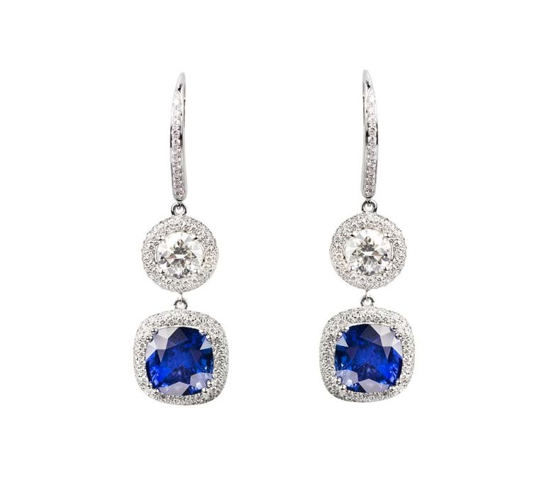 The earrings worn by BAFTAs 2014 presenter Gillian Anderson were set with 30ct sapphires and 18ct diamonds.