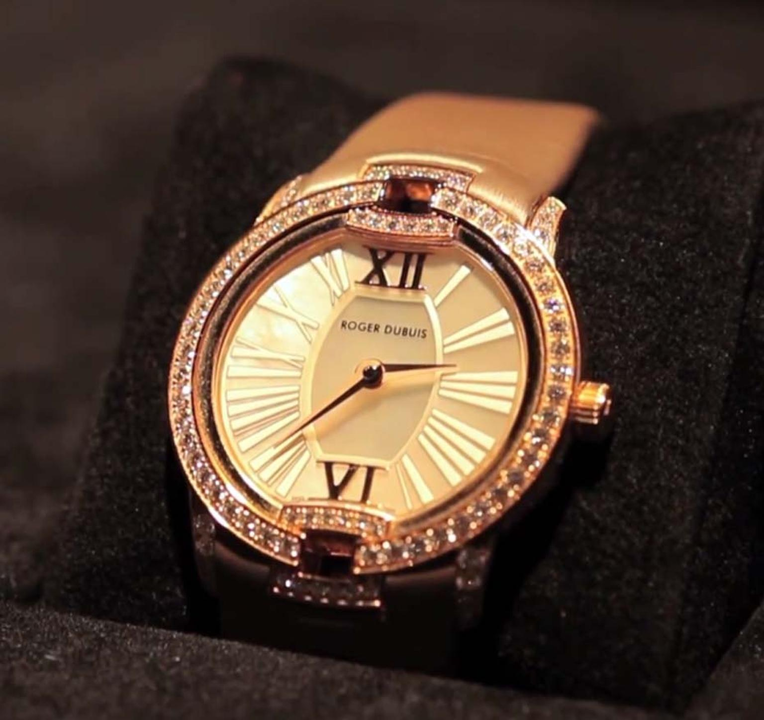 Roger Dubuis Velvet watch with diamonds and pink sapphires