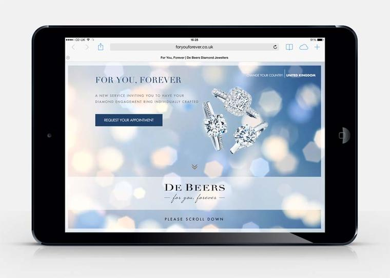 De Beers enhances its bespoke engagement ring service For You Forever with a new interactive website