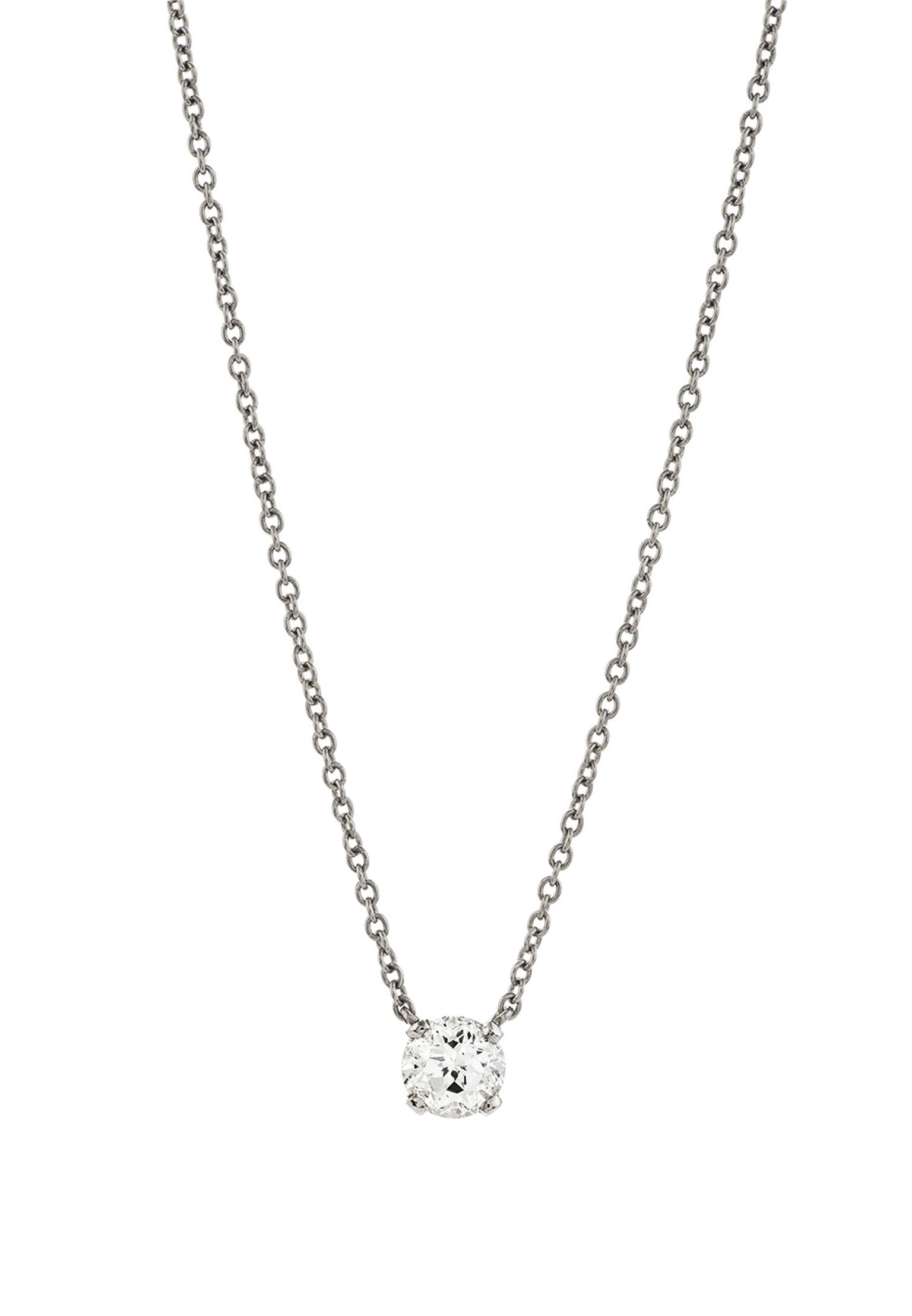 Garrard Eternal Cut solitaire diamond necklace