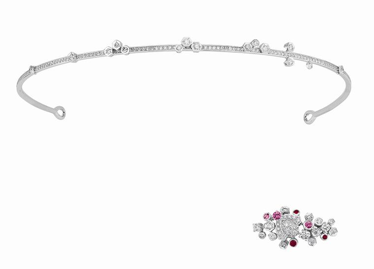 Chaumet's Bee My Love tiara in white gold can be worn with or without the bee brooch attached