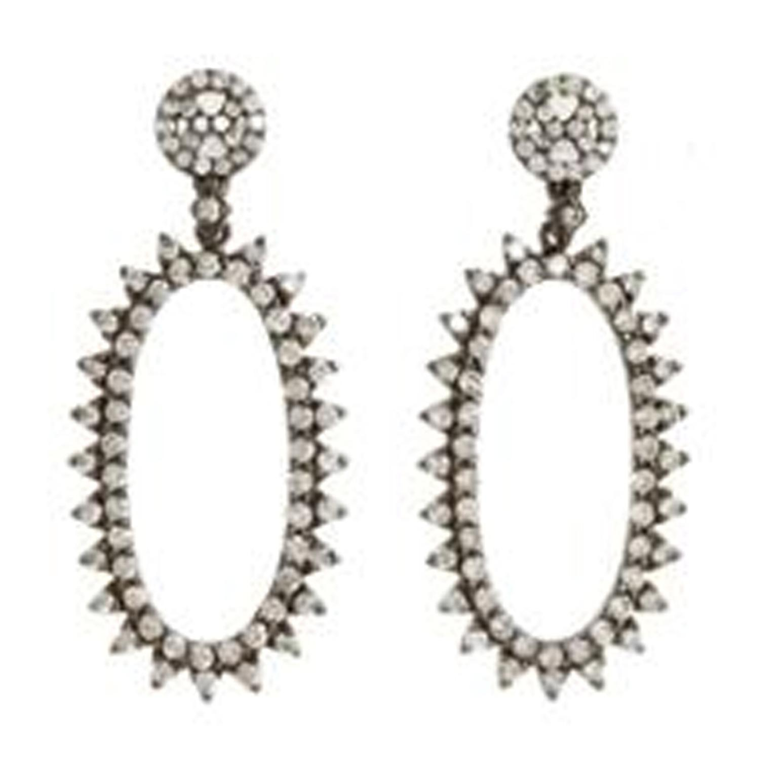 Deborah Pagani Family Jewels collection white gold Morningstar earrings