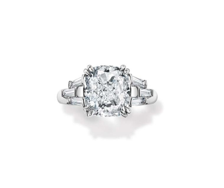 Harry Winston The Ultimate Bridal Collection cushion cut diamond engagement ring
