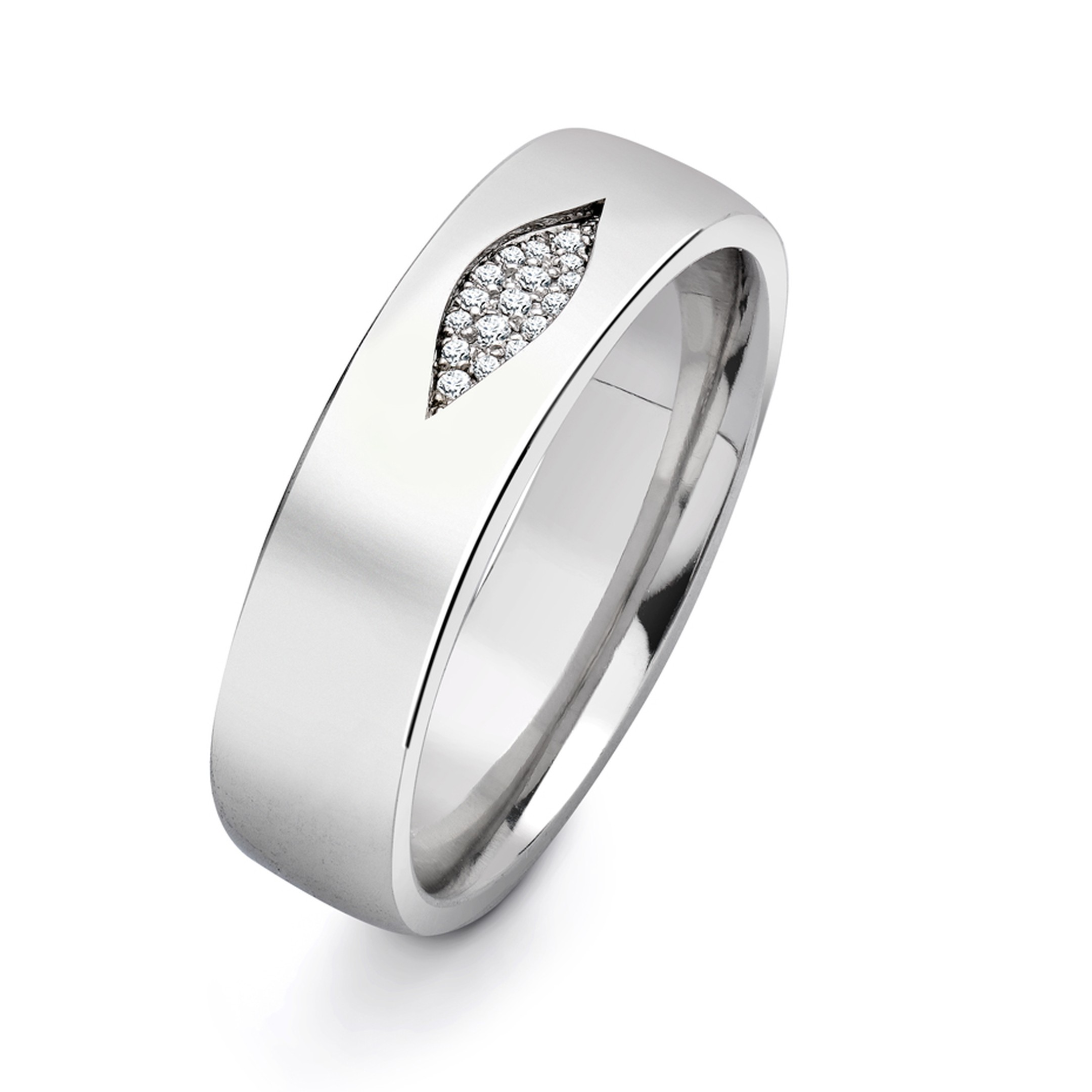 Andrew Geoghegan Reveal platinum ring featuring a sliver of diamond pavé