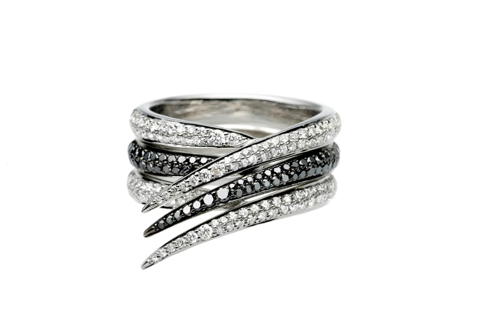 Shaun Leane interlocking diamond set ring
