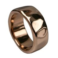 Stephen Einhorn Beaten rose gold ring