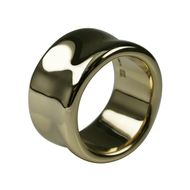 Stephen Einhorn Liquid extra wide yellow gold ring