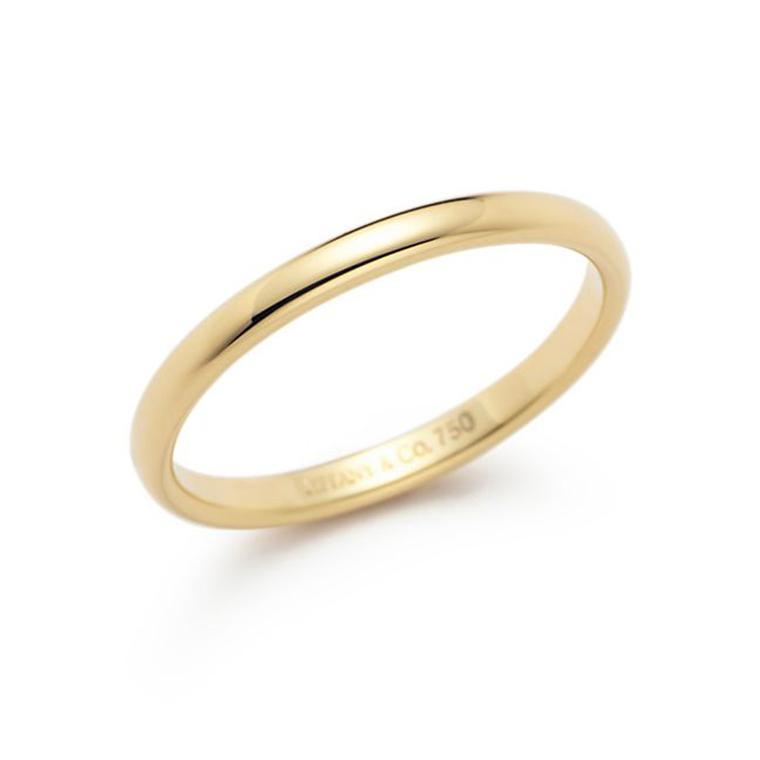 Tiffany & Co. yellow gold Lucida wedding band