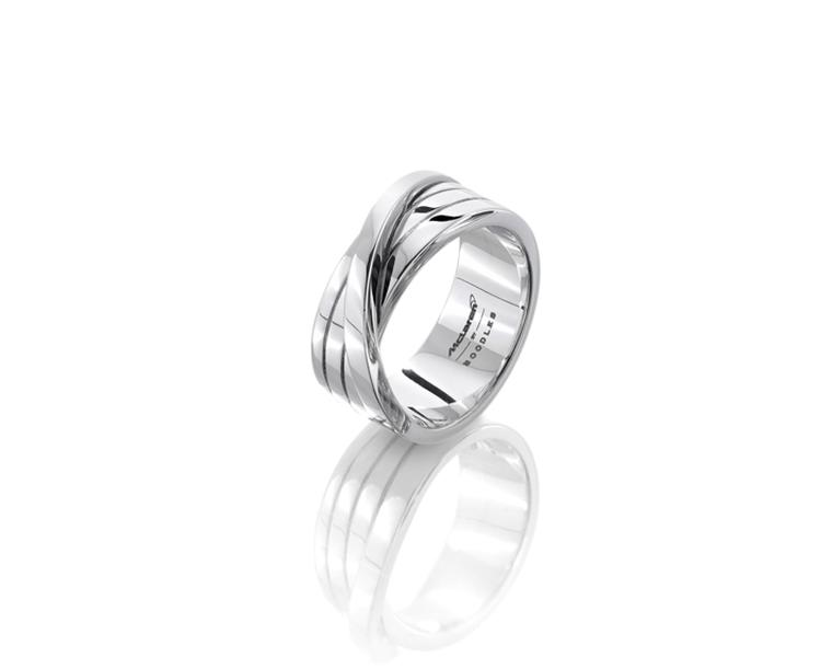 Boodles Max wedding band in white gold