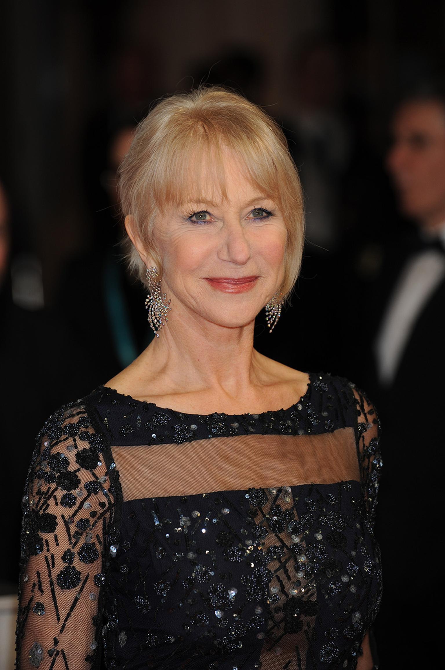 Actress Helen Mirren chose to wear the light-as-air Asprey Storm collection earrings to the 2014 BAFTAs.
