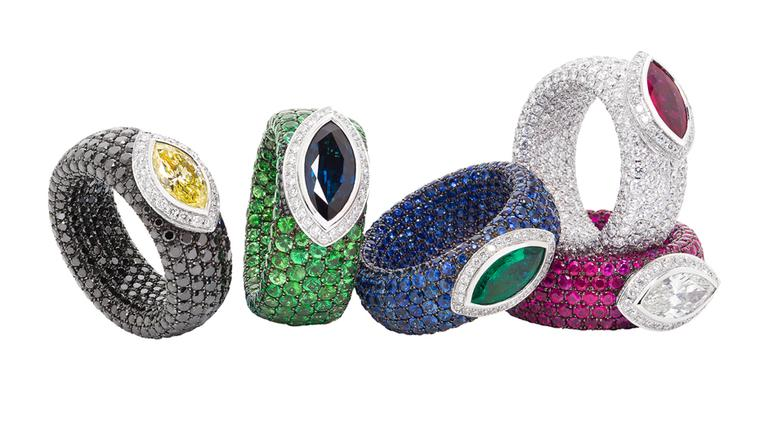 Hidden secret: the colourful new Cache collection of rings by Avakian