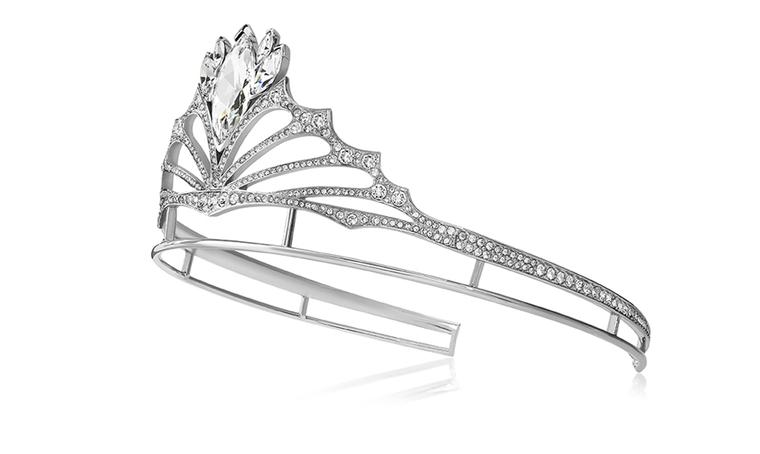 The tiara was a collaboration between Stephen Webster and Swarovski, described by the designer as 'both regal and chic'