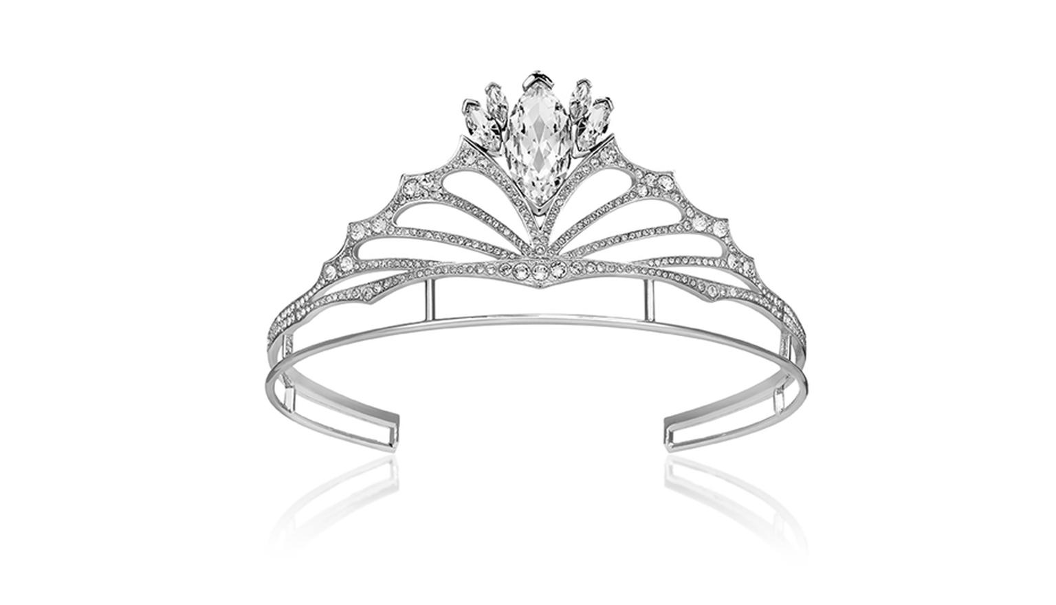 The Stephen Webster Fly By Night tiara sparkes with thousands of Swarovski crystals