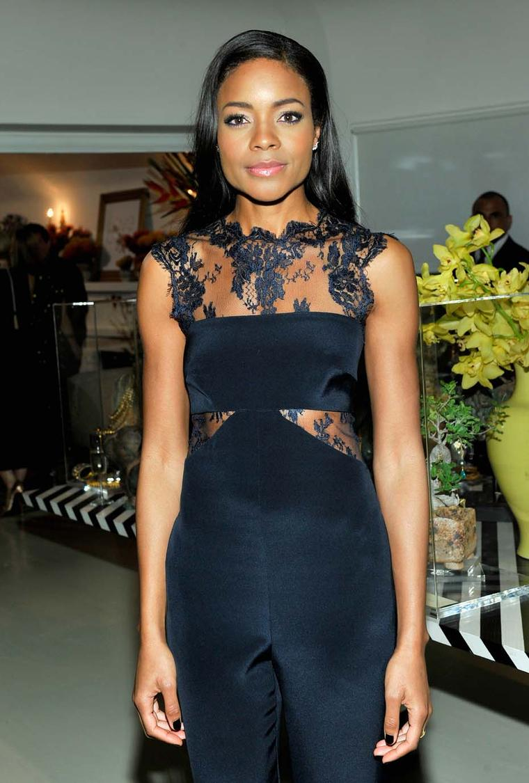 'Mandela' actress Naomie Harris was in also in attendance at LoveGold's cocktail party in LA to honour Oscar nominee Lupita Nyong'o