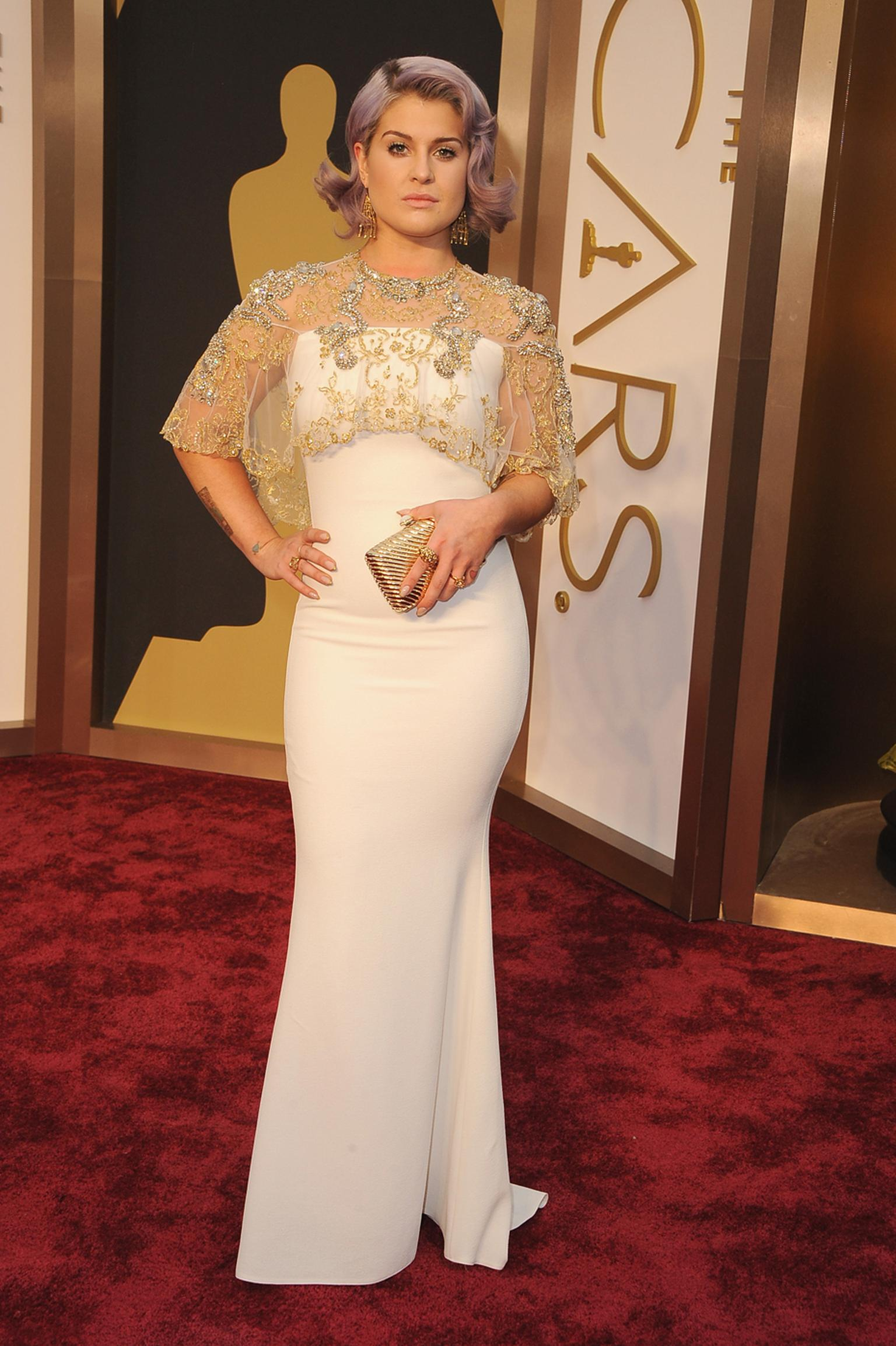 Kelly Osbourne wears an elegant Badgley Mischka dress with Solange Azagury-Partridge jewels