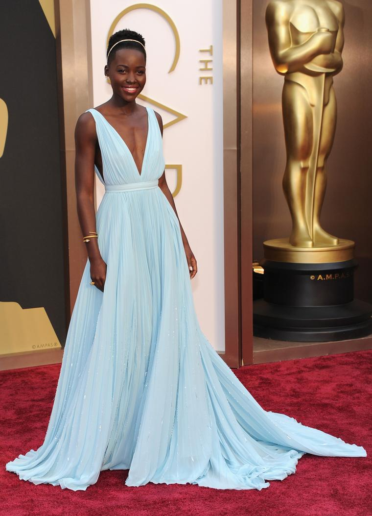 Best Supporting Actress winner, Lupita Nyong'o, dazzled in Fred Leighton jewels at the 86th Annual Academy Awards