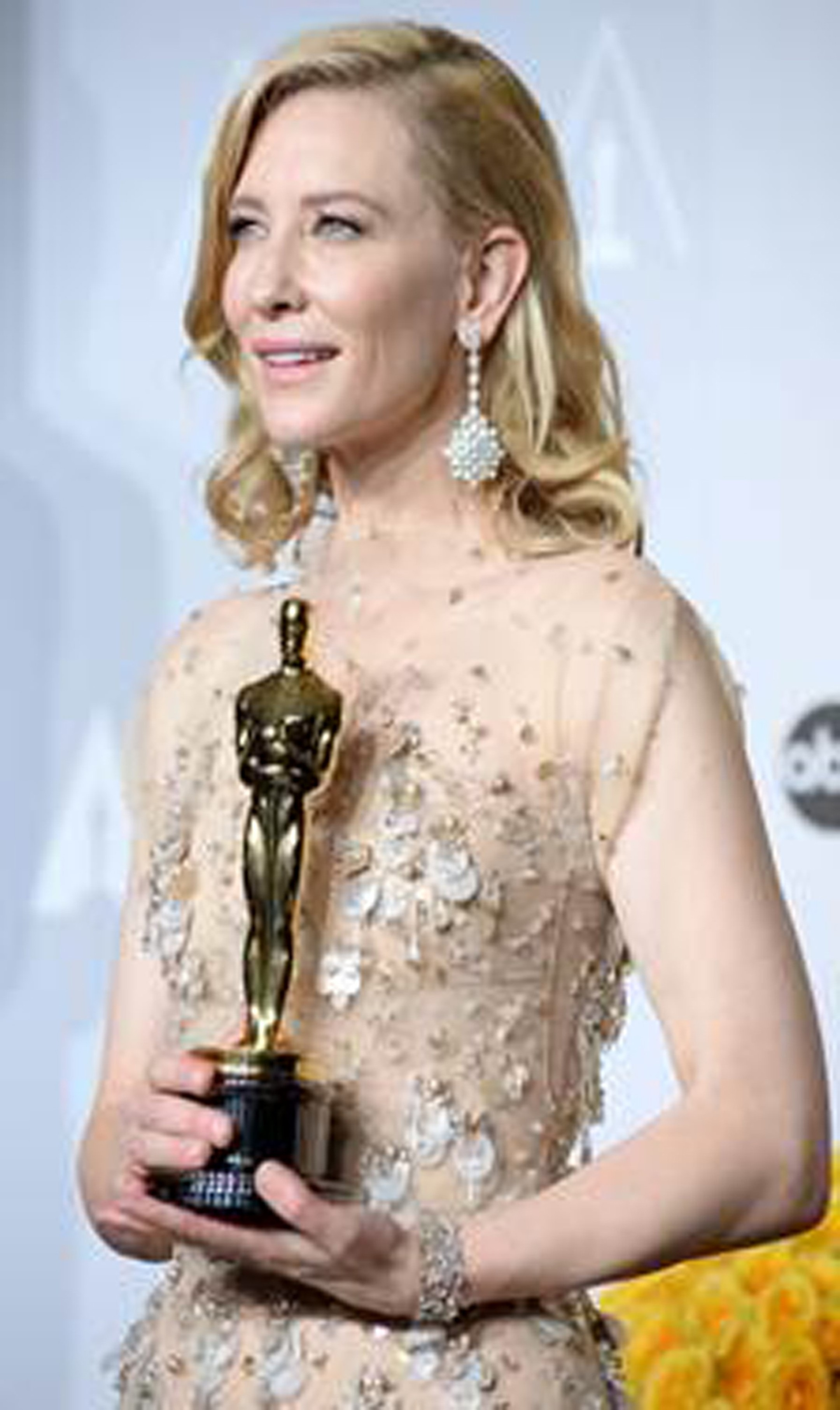 Academy Awards Winner for Best Actress in a Leading Role, Cate Blanchett gave a preview of Chopard's 2014 Red Carpet Collection at the Oscars 2014