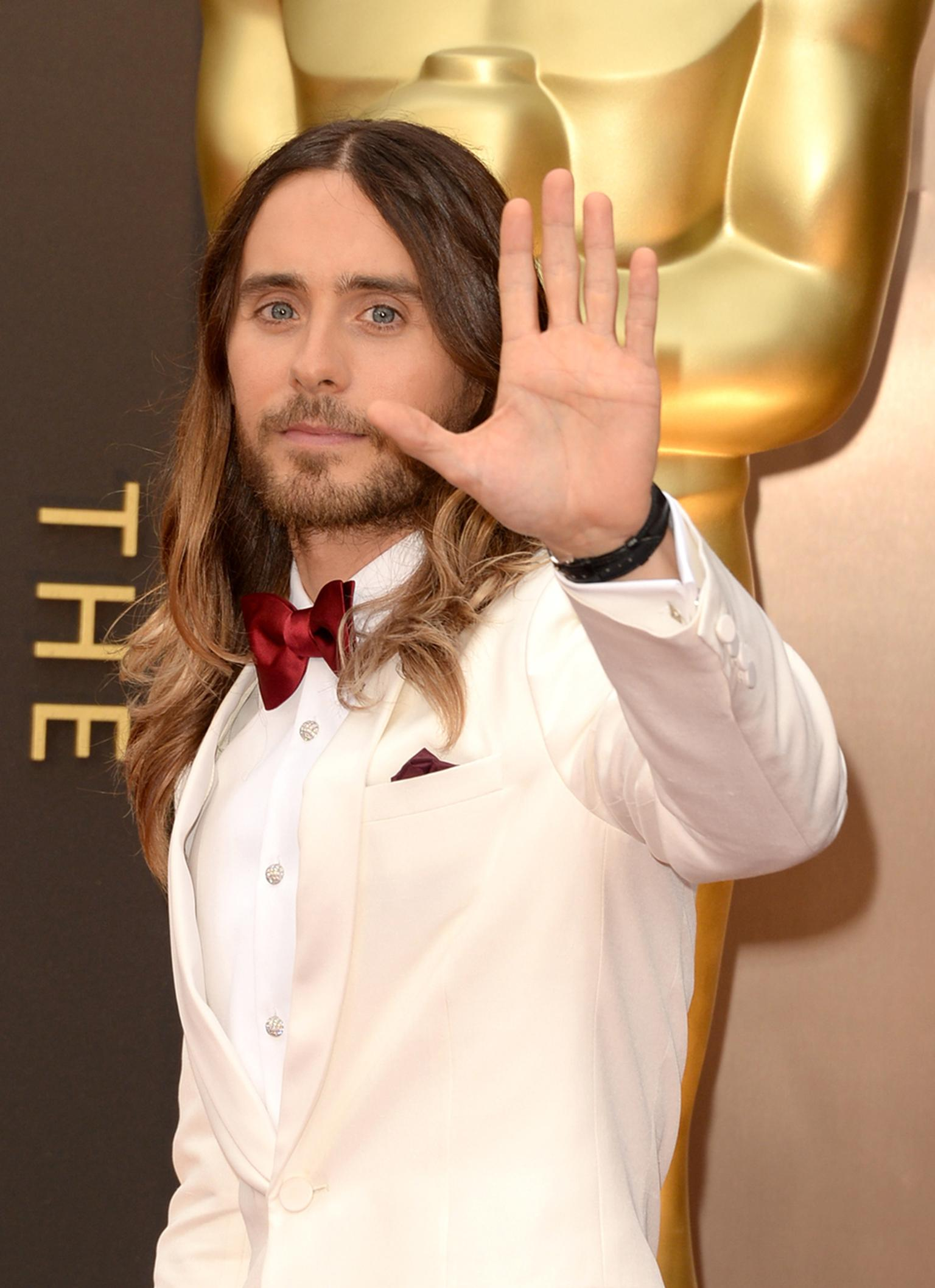 One of the best-dressed men on the night, Academy Award winner Jared Leto went for some subtle sparkle with a Neil Lane platinum and diamond dress set