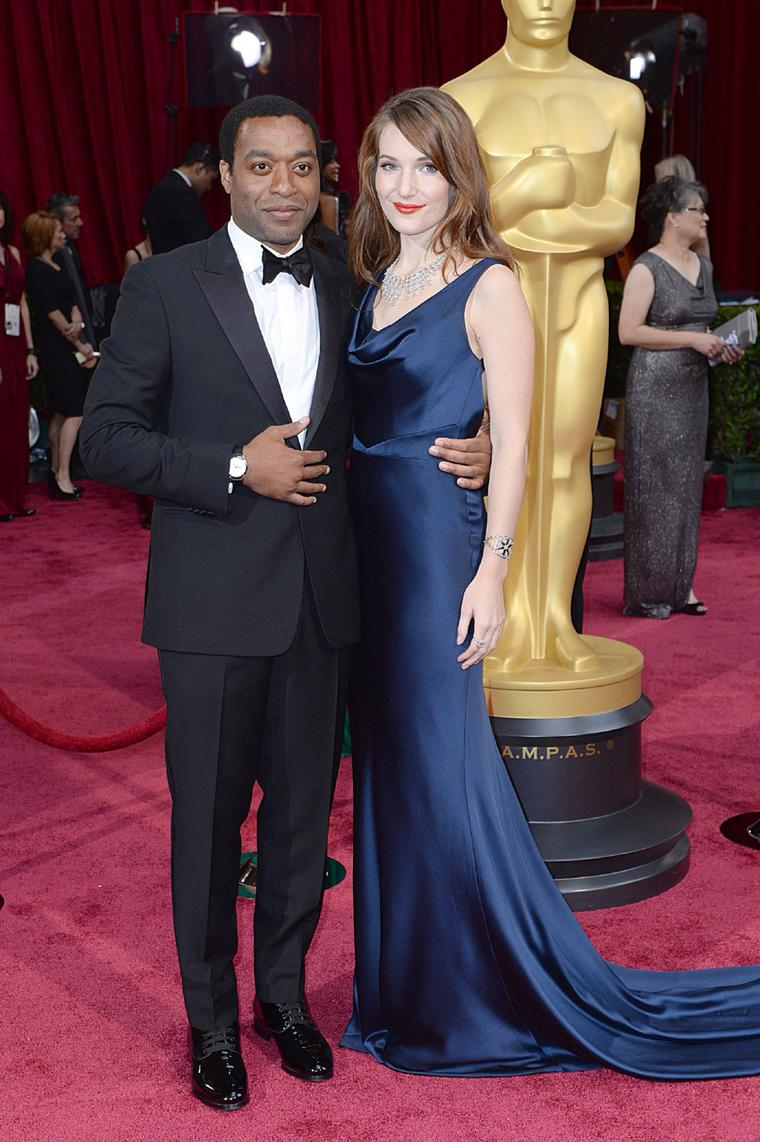 Best Actor nominee Chiwetel Ejiofor wore a Montblanc Star Date Automatic watch on the Oscars red carpet