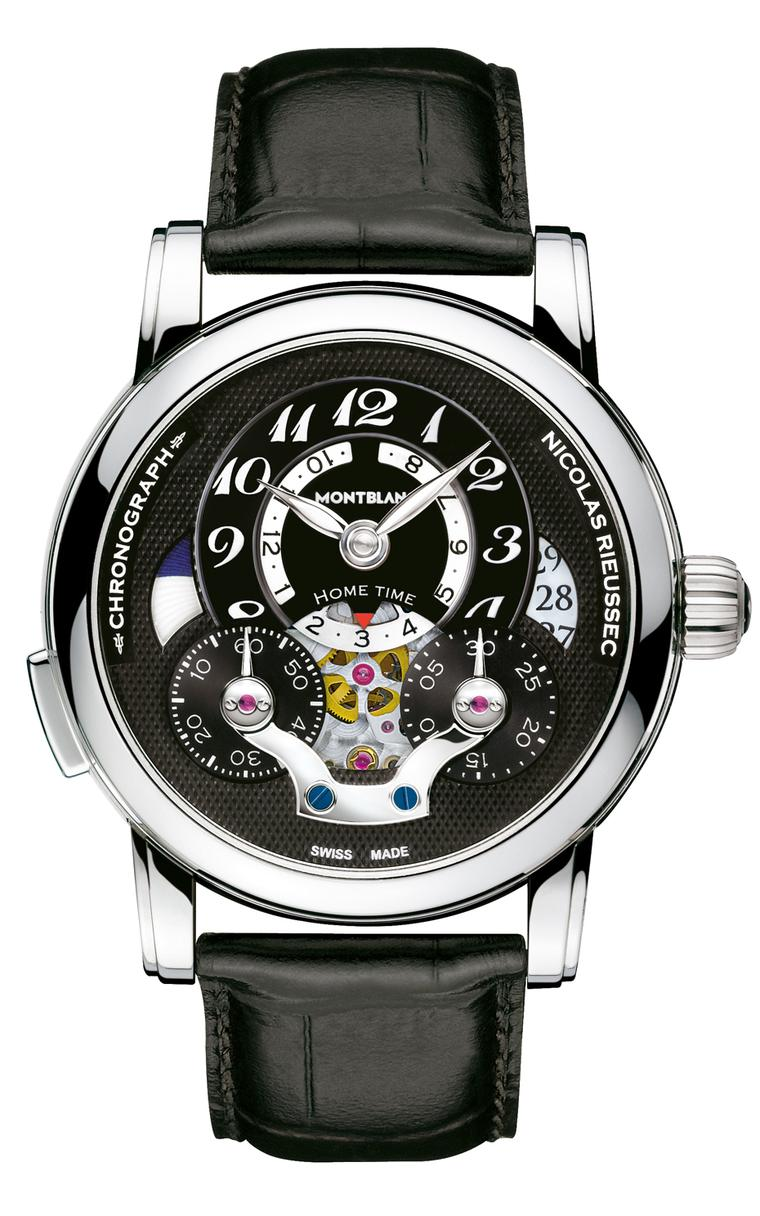The Montblanc Nicolas Rieussec Open Hometime timepiece worn by director Steve McQueen to the 2014 Oscars