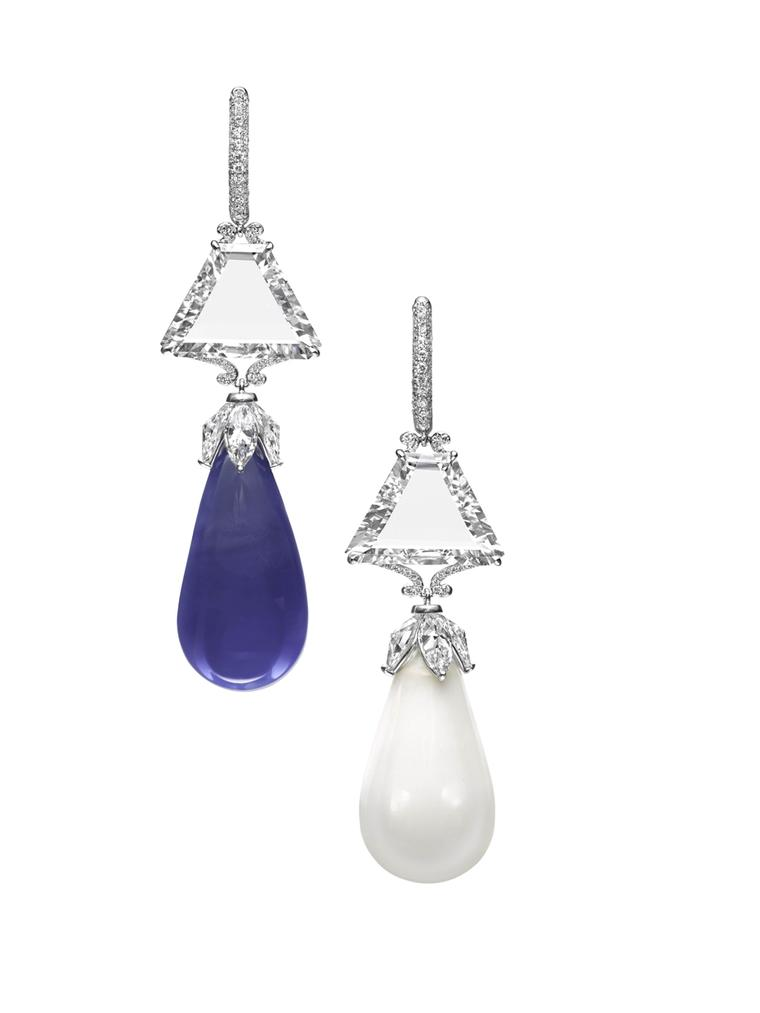 Boghossian Ceylon sapphire and diamond earrings