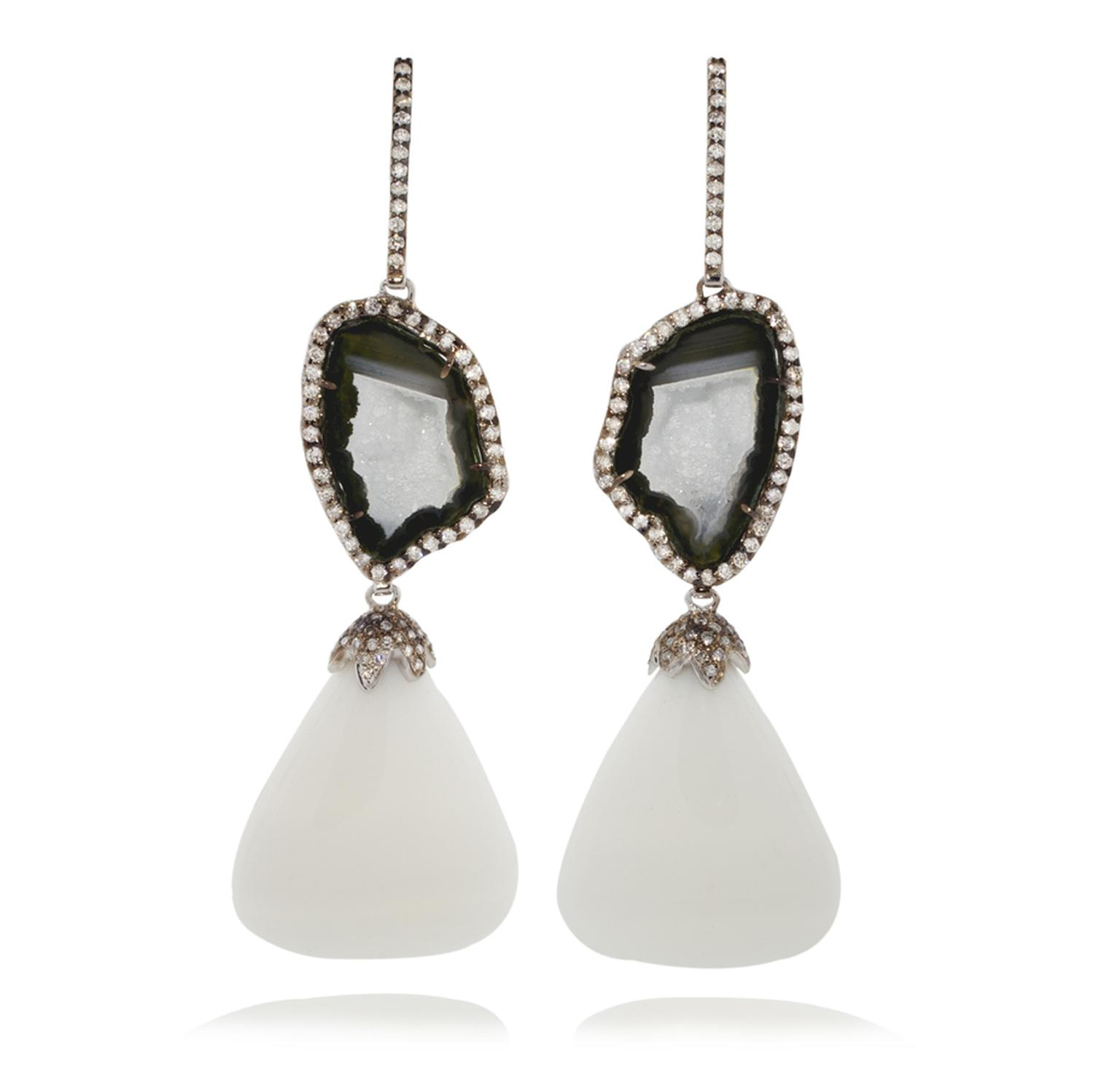 Kimberly McDonald geode earrings.