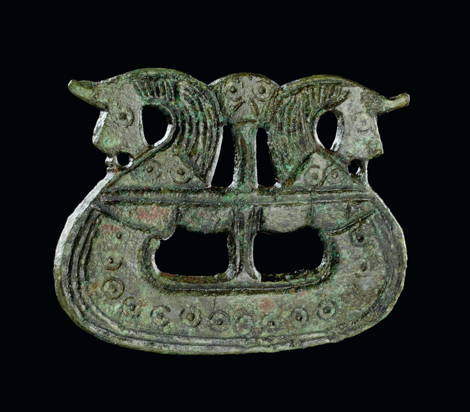 800-1050 AD copper alloy Ship brooch. Tjørnehøj II, Fyn, Denmark. © The National Museum of Denmark