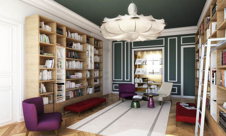 The library at L'École Van Cleef & Arpels