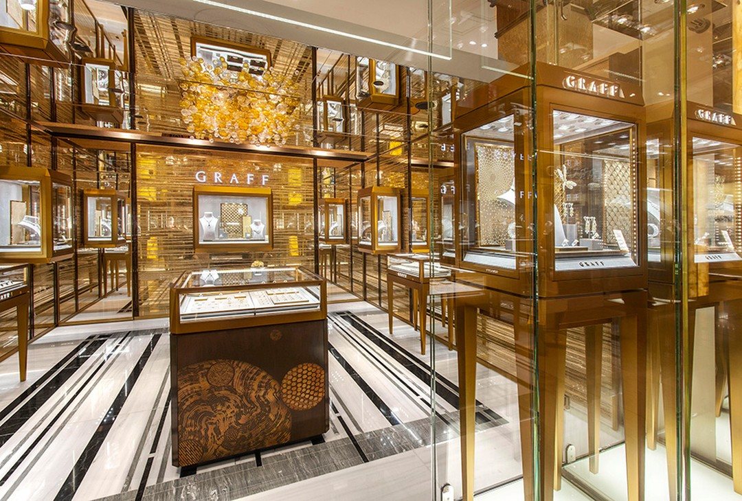 Graff, which currently has 45 flagship stores across the globe, was commended for its sustained increase in international operations over the last three years. Pictured is one of its latest openings - a new boutique in Harrods' Fine Jewellery Room.