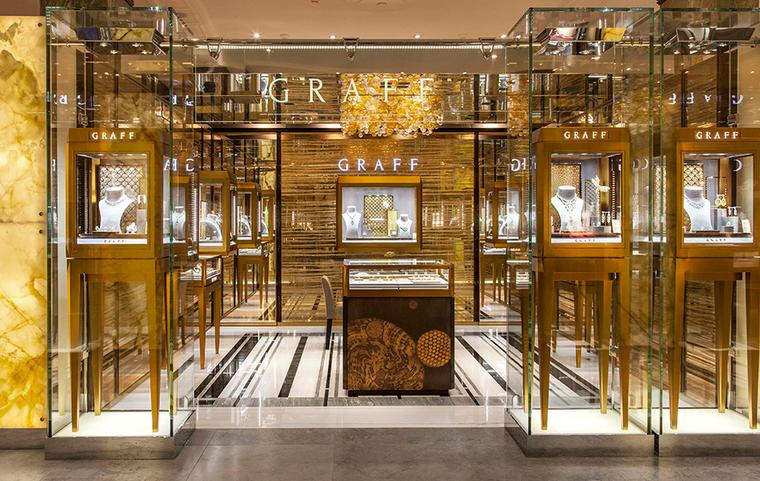 Graff is the sixth and final brand to open a dedicated space in Harrod's newly extended Fine Jewellery Room.