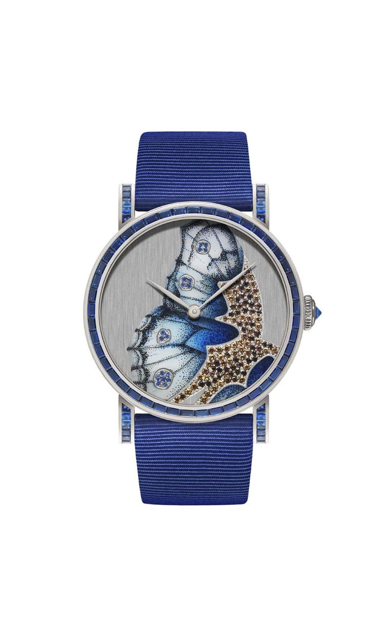 DeLaneau Rondo Blue Butterfly Wing watch