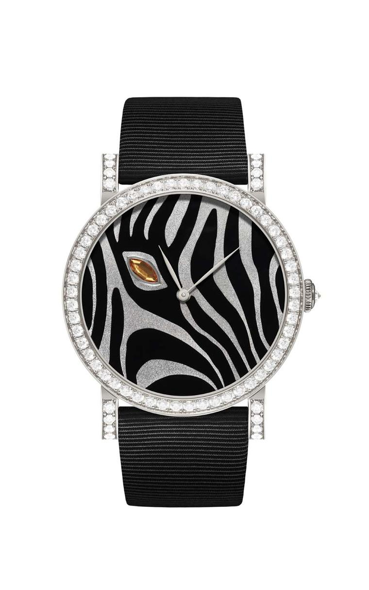 DeLaneau Rondo Orange Zebra Eye watch