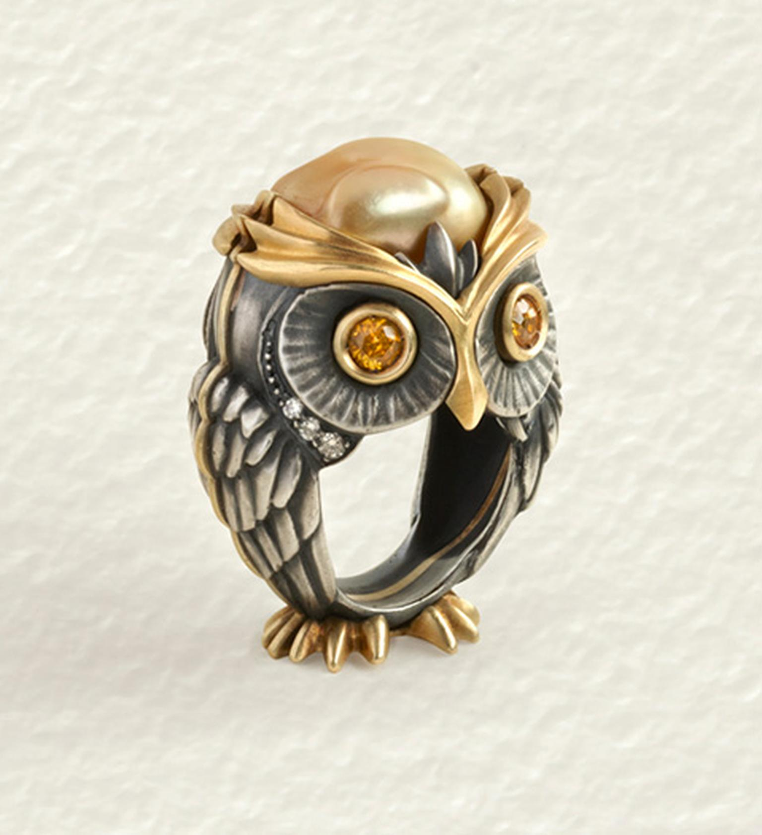 Elvira Cammarata Owl ring.